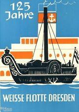 125 Jahre Weisse Flotte Dresden   Postkarte 1961