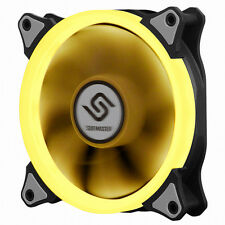 New Design PC Fan 120mm 25T 3-4 Pin Hydro Bearing  with Yellow  LED