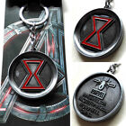 New Anime Marvel The Avengers Black Widow Logo Silver 5cm Metal Keychain Keyring