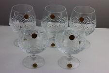 Cristallerie Zwiesel Set of Five Balloon Glasses Echt Bleikristall 24% Crystal