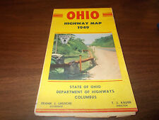 1949 OHIO State-issued Vintage Road Map