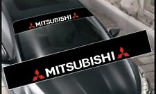 Mitsubishi Decals Windshield Banner Sun Strip, Sun Visor Stickers