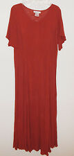 Flowing Long Crinkle Gauze Dress short sleeve  - Roaman's M NWT