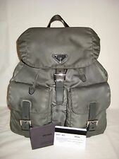 AUTH Prada BZ2811 Backpack Nylon Leather Slate Grey w/ Authenticity Card
