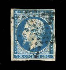 FRANCE - N°14A 20c EMPIRE ND Type 1 OBLITÉRÉ (02b) ETOILE MUETTE DE PARIS