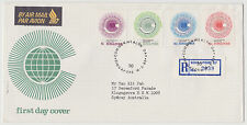 SINGAPORE - Commonwealth Day FDC, reg. mail 2039 to Australia, 14 Mar 1983 (S43)