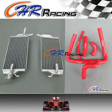 for Honda CR250 CR 250 R CR250R 2002-2004 aluminum radiator + hose 02-04 2003 03
