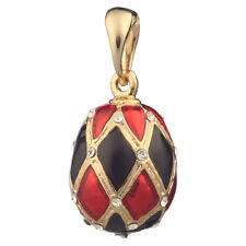 Faberge Egg Pendant / Charm with crystals 2.2 cm #2201-04
