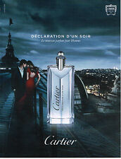 PUBLICITE ADVERTISING  2012  DECLARATION D'UN SOIR    parfum de CARTIER