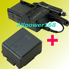 BATTERY + Charger FOR PANASONIC VW-VBG260 VW-VBG130 HDC HDC-HS200 HDC-HS250 NEW