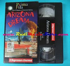 VHS film ARIZONA DREAM 1993 Jonny Depp Jery Lewis l'ESPRESSO (F7) no dvd