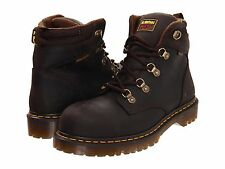 Dr Martens Men's US 8 Holkham Steel Toe Hiker Gaucho Brown Work NEW Doc Boots
