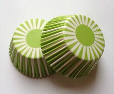 Green Sunburst Wedding Cupcake Liner Baking Cup 50 Standard Size White