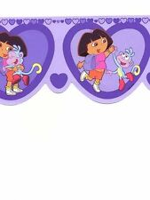 Dora the Explorer in Purple Nickelodeon Wallpaper Border NK2149DC
