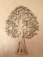 """1 x MDF """"DECORATIVE TREE WITH OWLS - Embellishment - approx 290mm high"""