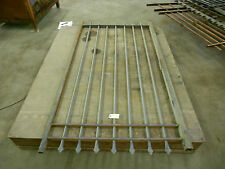 "IRON FENCE GATE PANEL 9 POST, 7 DIAMOND SHAPE TIPS 81"" H X 42 1/2"" W"