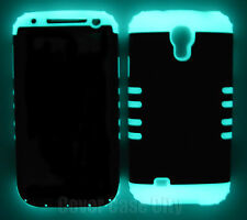 Black Glow in Dark Shock Resistant Case Cover for Samsung Galaxy S4 S IV i9500