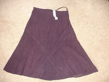 BNWT Ladies' F&F Purple Belted Skirt, A-Line, Knee-Length, Size 14
