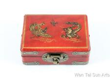 Dragon Phoenix Chinese Jewellery Box, Wooden Laquer Box