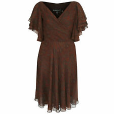 RALPH LAUREN BLACK LABEL $1,398 paisley mulberry silk ruffle wrap dress 6 NEW