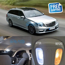 10Pcs Interior LED Lights Package Kit for Mercedes Benz W212 E Class 2009-2012