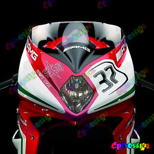KIT ADESIVI FARI MV AGUSTA F4 F3 REPLICA SBK moto sticker racing Headlights