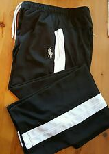 POLO by Ralph Lauren- Black Performance Poly, Logo Athletic Warm-Up Pant- Yth XL