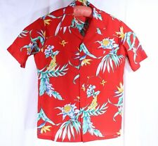 Made in Hawaii Size L See Measurements Hawaiian Loud Shirt Red Floral