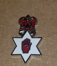 red hand in star with crown above lapel badge loyalist orange order unionist