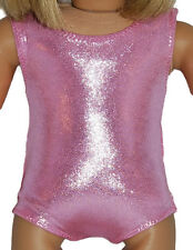 "SHINY PINK LEOTARD Dance/Gymnastics Doll Clothes Fits 18"" American Girl Dolls"