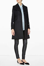 Carven Compact Coat Single Breasted Wool Black Women's 34 NWT $950