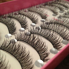 Longue Thick Croix 10 paires Maquillage Faux cils Lashes Eye Extension