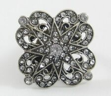 Eye Catching New Stylish Starburst Stretch Ring With Genuine Crystals #R1126A