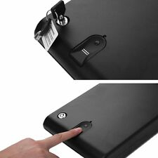 Mini Digital Gun Security Safe Biometric Fingerprint Box CASE Pistol Lock Keys~K