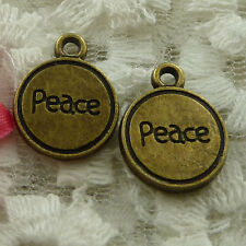 free ship 45 pieces bronze plated peace charms 17x13mm #2419