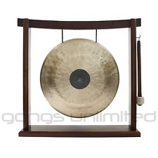 """12"""" Chocolate Drop Gong on the Woodsonic Gong Stand with Mallet"""