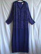 FRANK USHER Cruise Long Evening Dress Sequin Bead Cocktail Party UK 18 FREE P&P