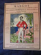 Partition Margot Sacha Guitry Willemetz Salabert 1934 Music Sheet Grand Format