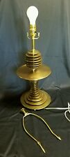 Amazing Machine Age stacked brass disk Geometric Lamp art deco mcm atomic