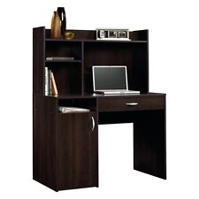 Sauder Beginnings Desk with Hutch - Cinnamon, Cherry