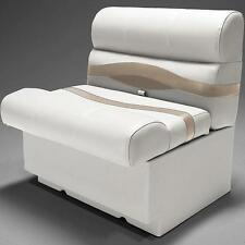"Premium 28"" Pontoon Boat Seats In Ivory, Tan and Beige"