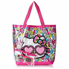6in1 Hello Kitty Travel Beach Tote Bag + Sunglasses Pouch +Swim Ring Tube +BONUS