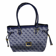Guess Handbag Purse Shopper Reama Blueberry Shoulder Bag Tote Logo Sg425822