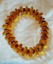 Gorgeous faceted baltic amber button bead bracelet 8.5gr