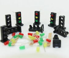 JTD26 10 sets Target Faces With LEDs for Railway Dwarf signal O Scale 3 Aspects
