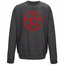 Red Pentagram Pagan Symbol Sweater Sweatshirt