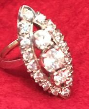 Vintage 1940s or 1950s Ladies diamond ring 14k with $6,000 appraisal 1.86 cts