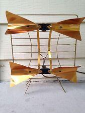 """Vintage Modernist """"sculpture""""  Brass Copper Tone Radio TV Antenna"""