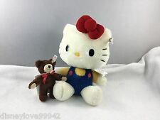 Steiff HELLO KITTY Anniversary 682216 with Bear 2014 w Shipper New