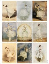 FRENCH FURNITURE DECAL SHABBY CHIC IMAGE TRANSFER VINTAGE LADY BALLERINA DANCER